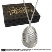 Official Silver Dragon Egg Pendant - Game Of Thrones